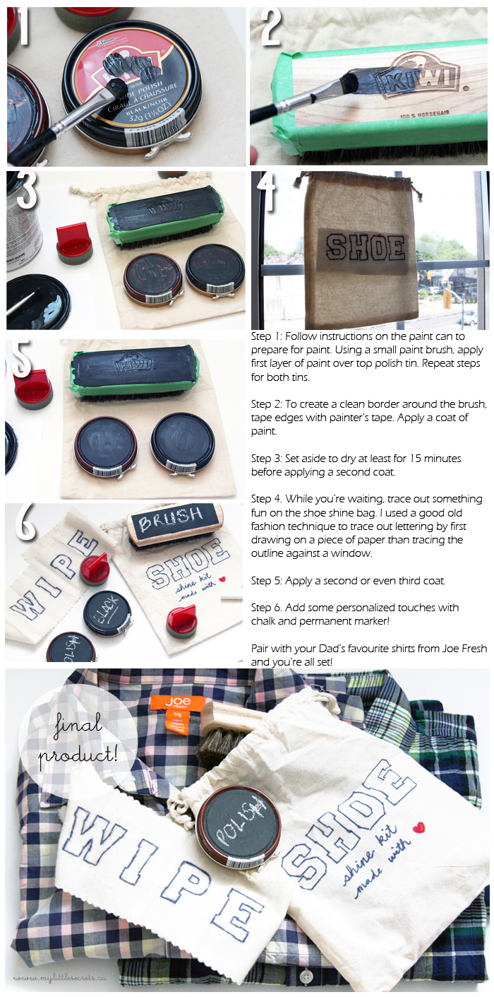 DIY Father's Day Shoe Shine Kit