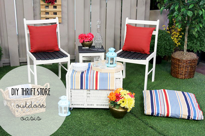 Marilyn Denis DIY Thrift Store Showdown Winner Outdoor Oasis