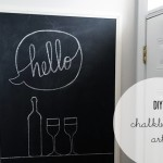 DIY :: {Built-In} Chalkboard/Blackboard Art