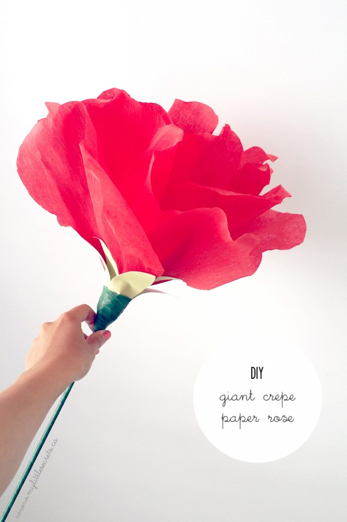 DIY Giant Crepe Rose