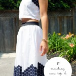DIY :: Matching Cropped Top and Skirt {with Joe Fresh}
