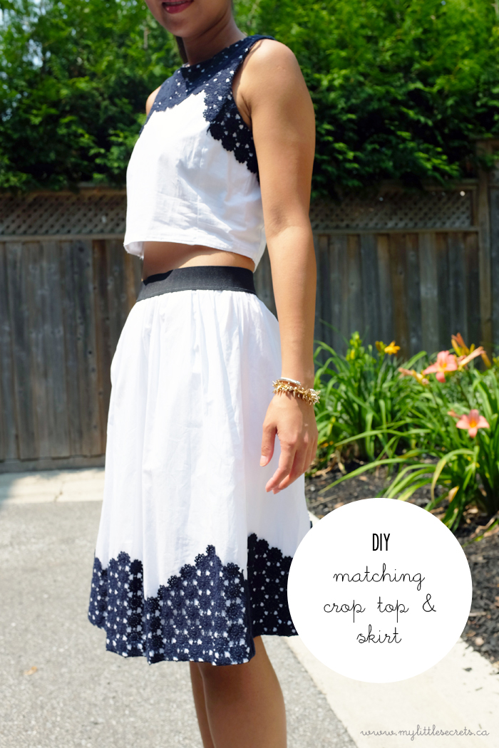 DIY Matching Cropped Top and Skirt Joe Fresh