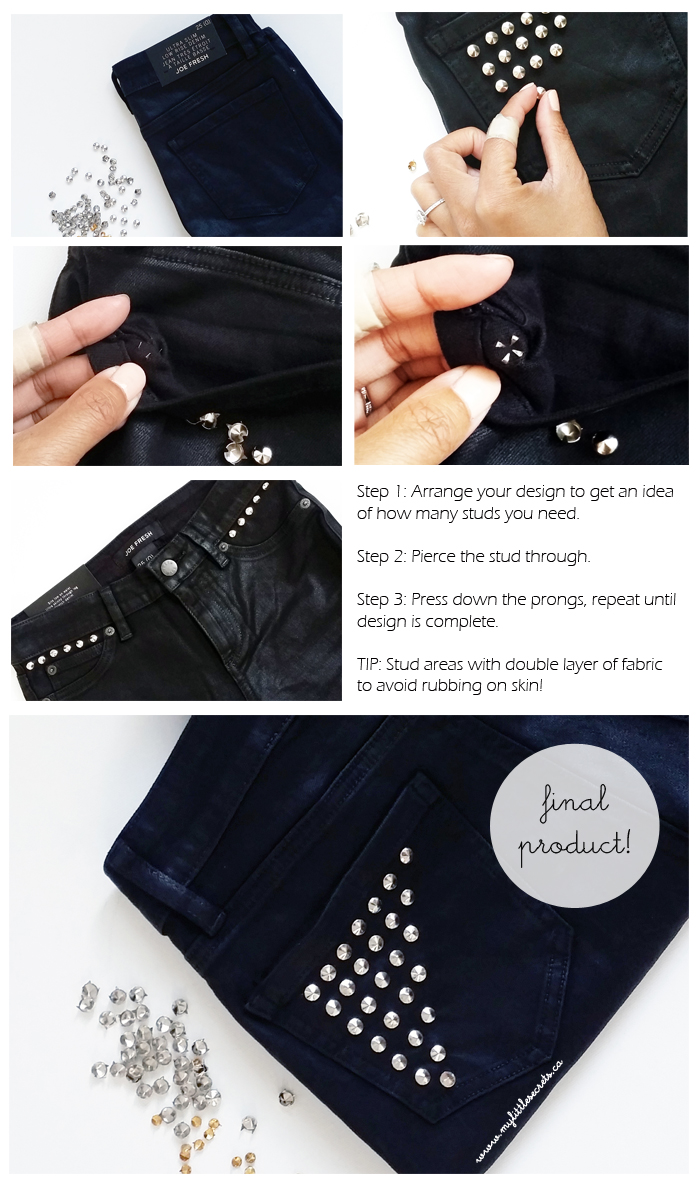 DIY Joe Fresh Studded Denim - Tutorial
