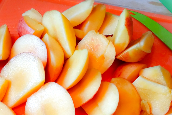 Peach and Coconut Popsicle