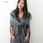 DIY Celine inspired Faux Sleeve Tie Sweater