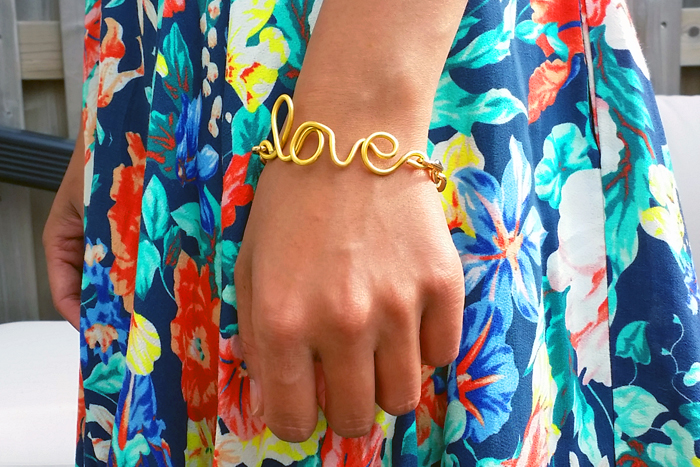 DIY Wired Word Bracelet DIY Blog
