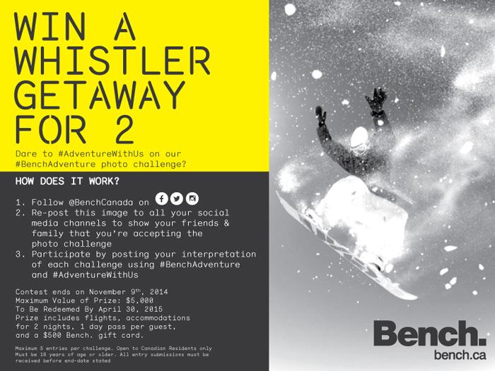 Bench Canada Photo Challenge Contest