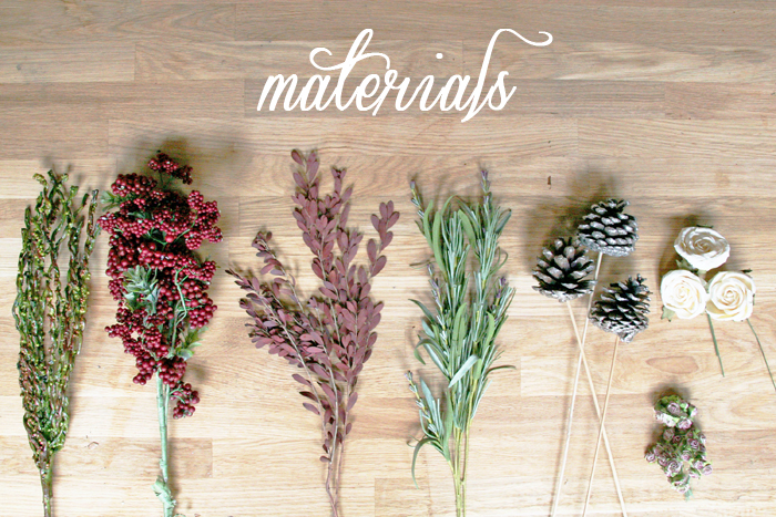 DIY Holiday Wreath Materials 1