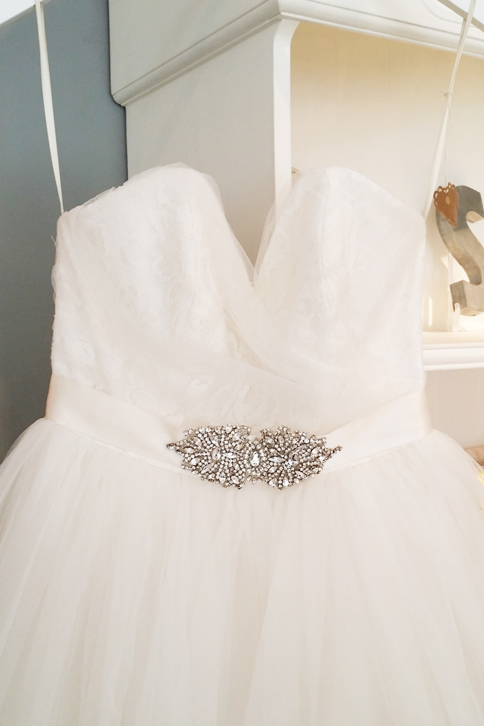 Sash & Bustle Princess Wedding Gown