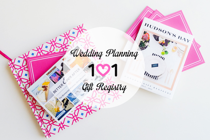 Wedding Planning 101 : Selecting a Gift Registry Option