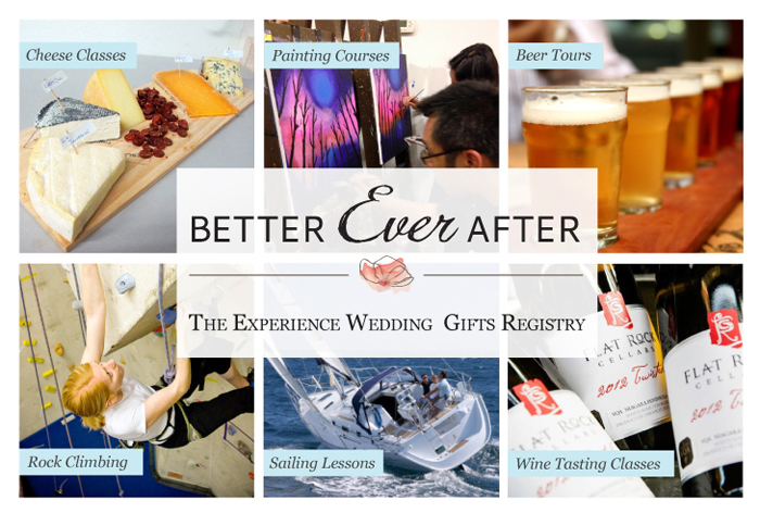 Better Ever After Unique Experiences Wedding Gift Registry