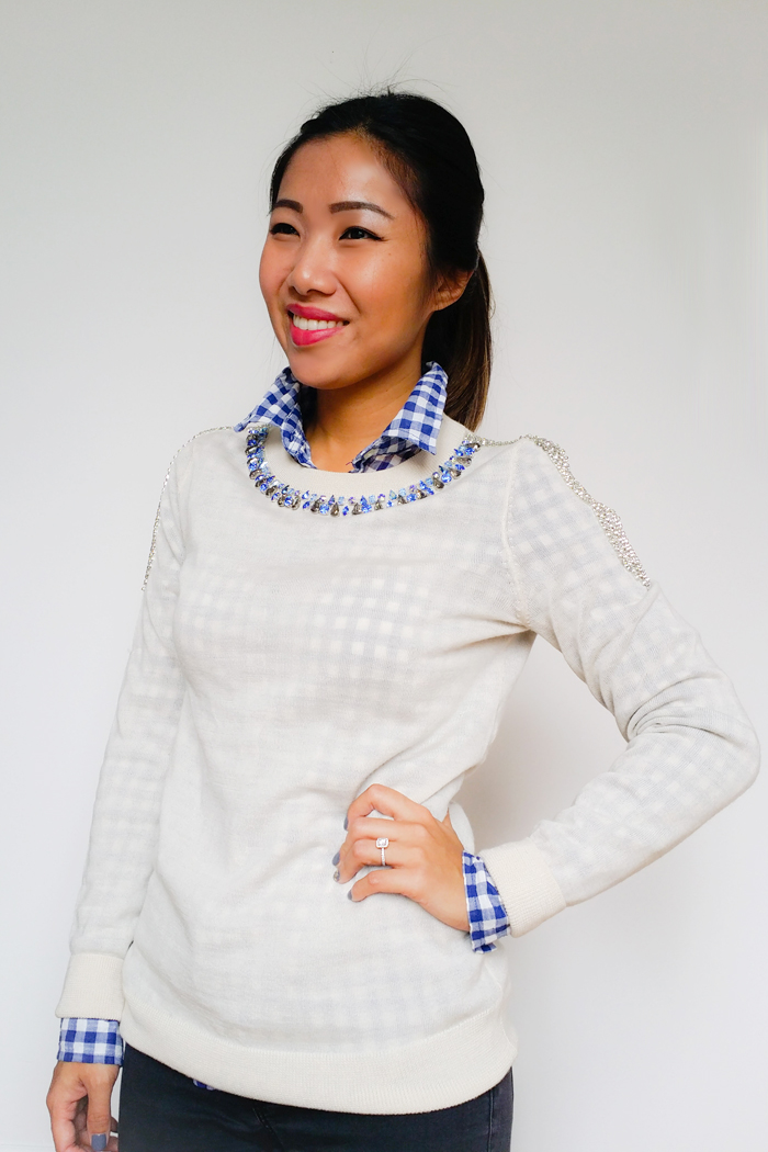 DIY Joe Fresh Jeweled Sweater