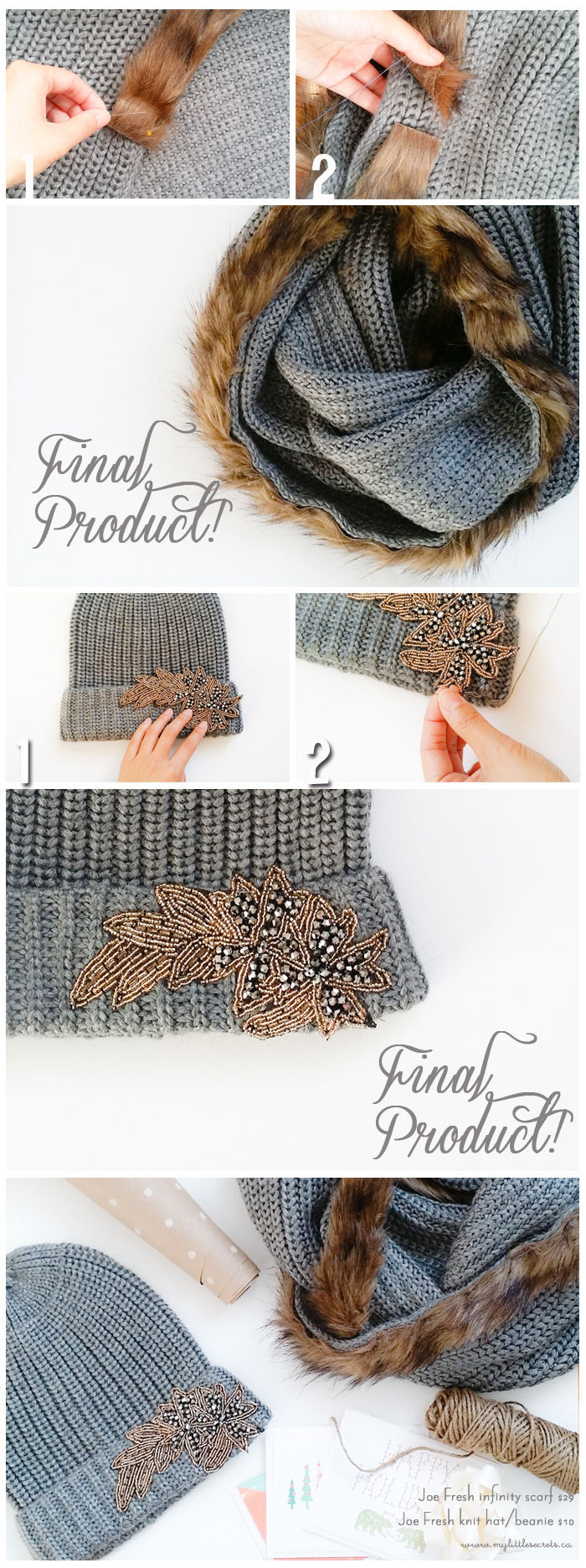 DIY Joe Fresh infinity scarf and hat