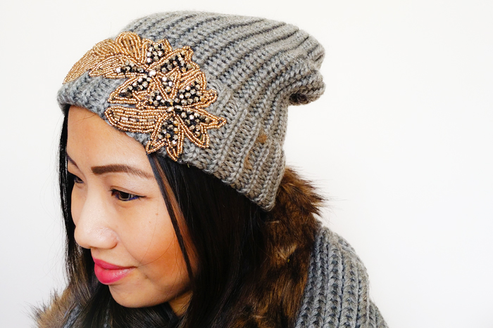 Joe Fresh DIY Embellished Toque Beanie