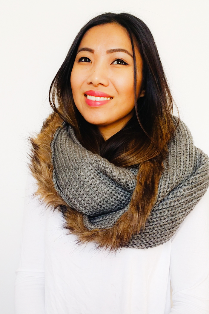 Joe Fresh DIY Fur InfinityScarf