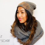 DIY :: Joe Fresh Fur Trimmed Infinity Scarf and Embellished Hat