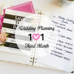 Wedding Planning 101 :: Third Month