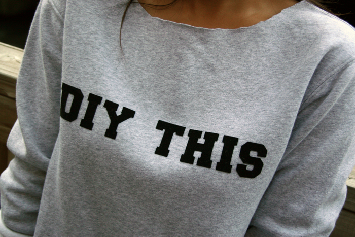 DIY Iron On Letter Sweatshirt