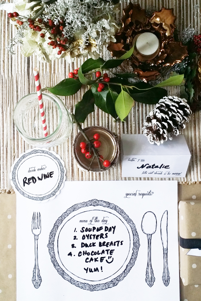 DIY Laminated Resusable Table Setting Placemats
