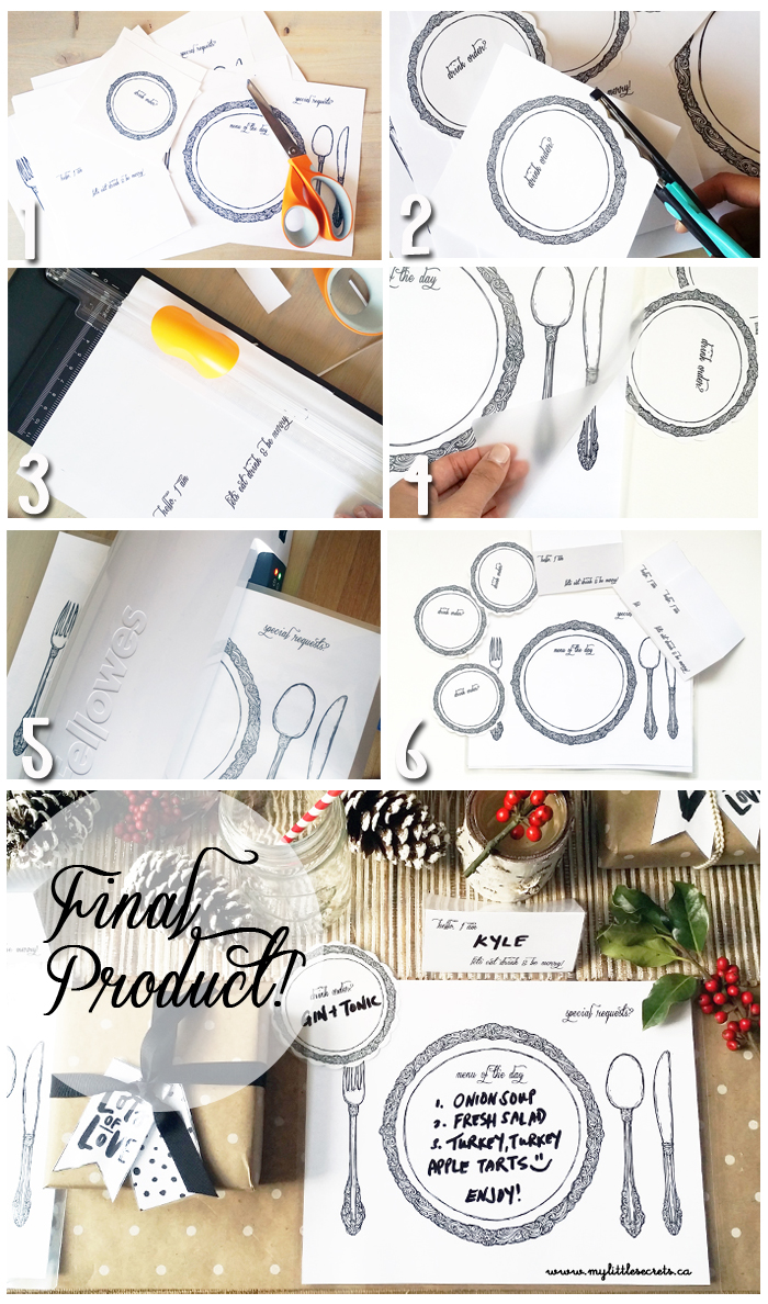 DIY Table Setting Placemat - Tutorial