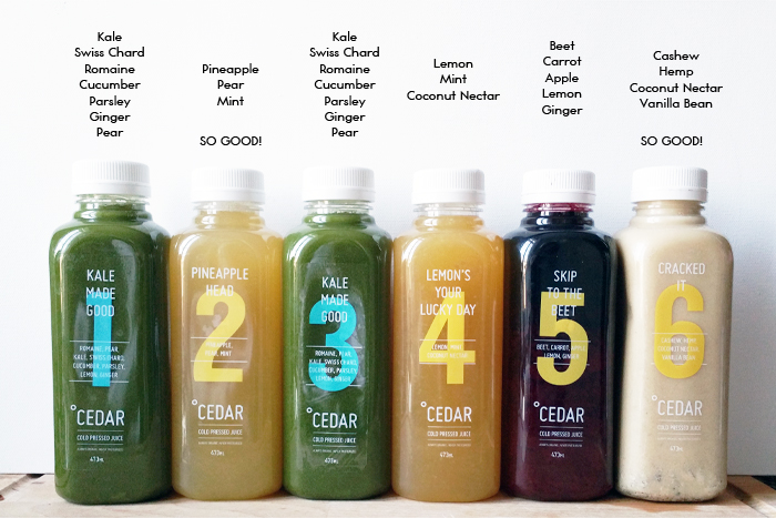 Lifestyle Cedar Juice 3 Day Juice Cleanse My Little
