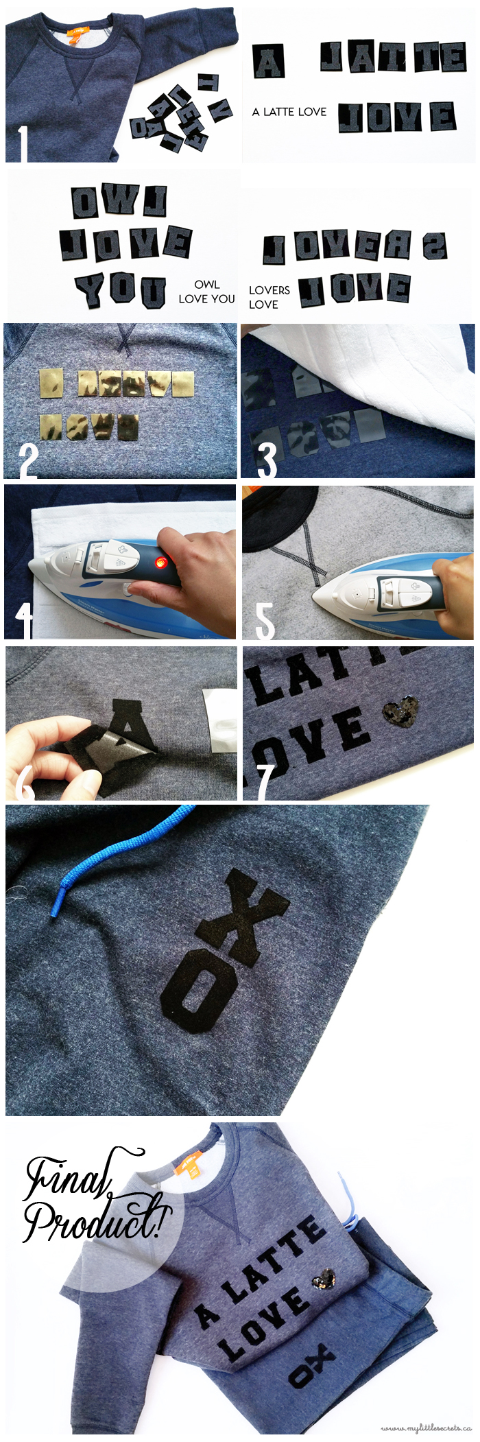 DIY Joe Fresh Valentine's Day Sweats Tutorial