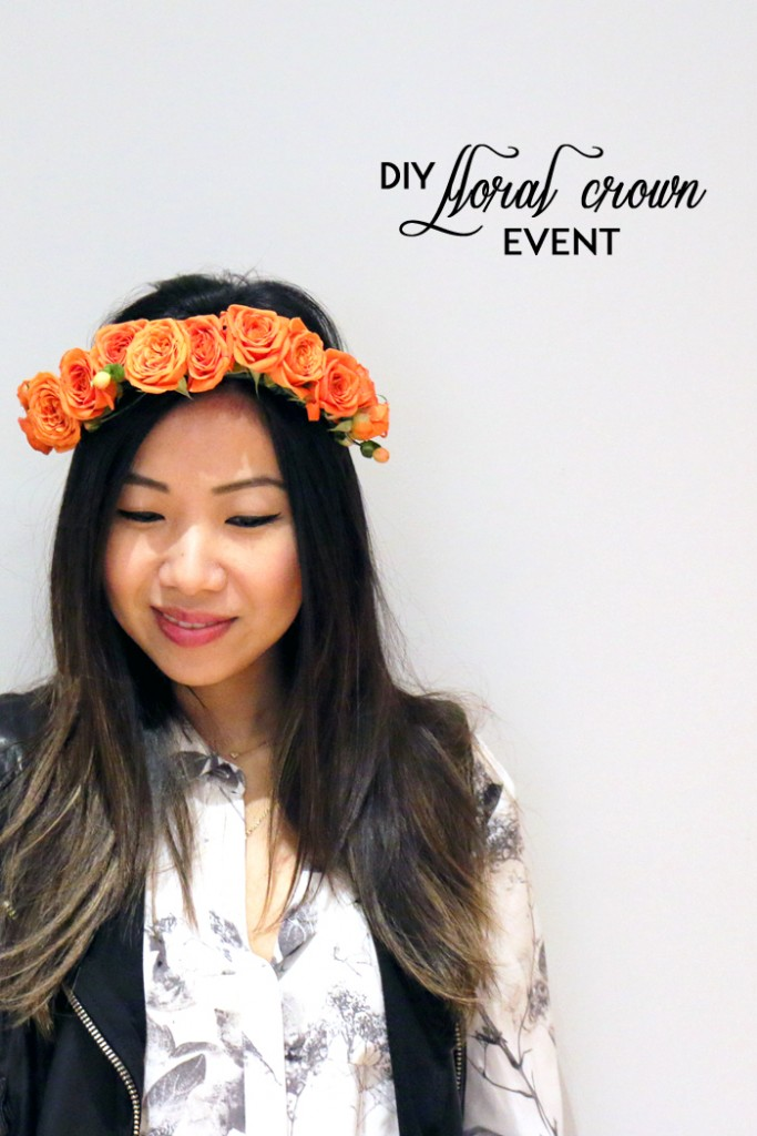 Joe Fresh DIY Floral Crown Event