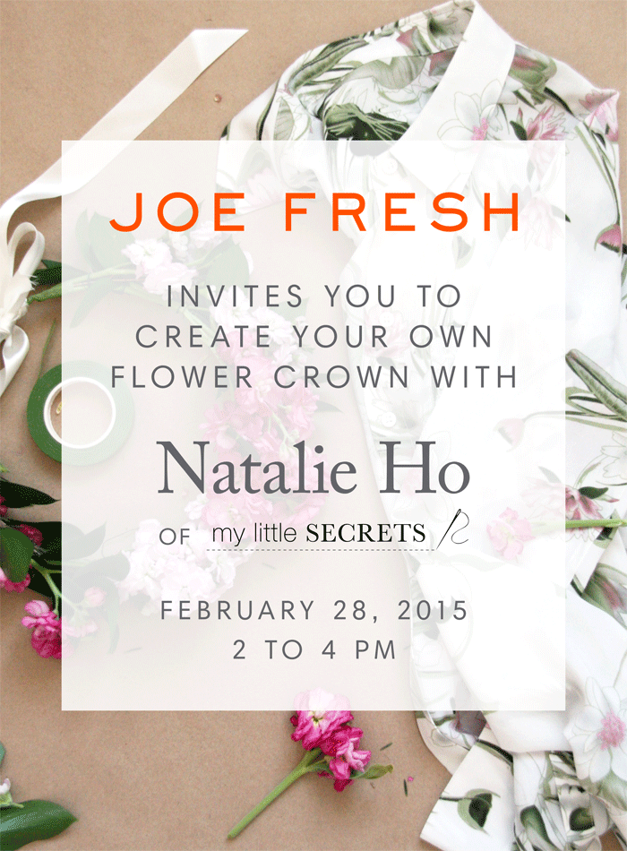 Joe Fresh DIY Floral Crown Event with My Little Secrets