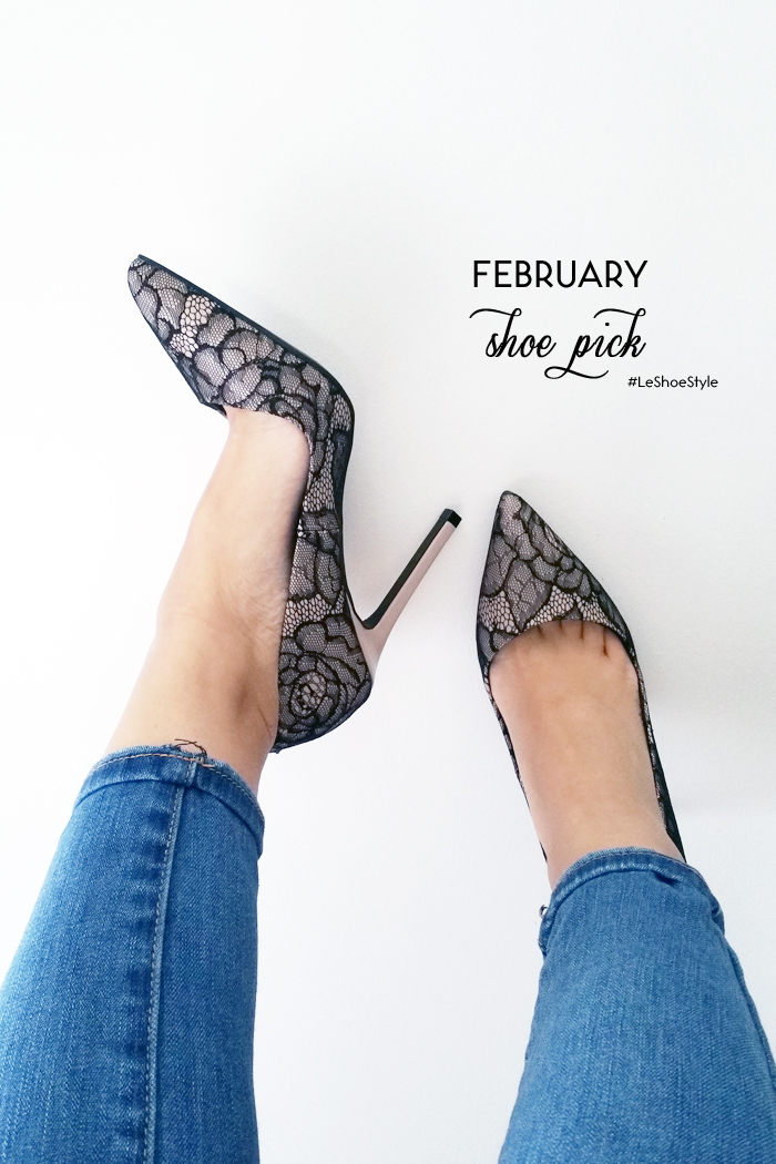 Le Chateau Shoe Ambassador Feb Lace Heels
