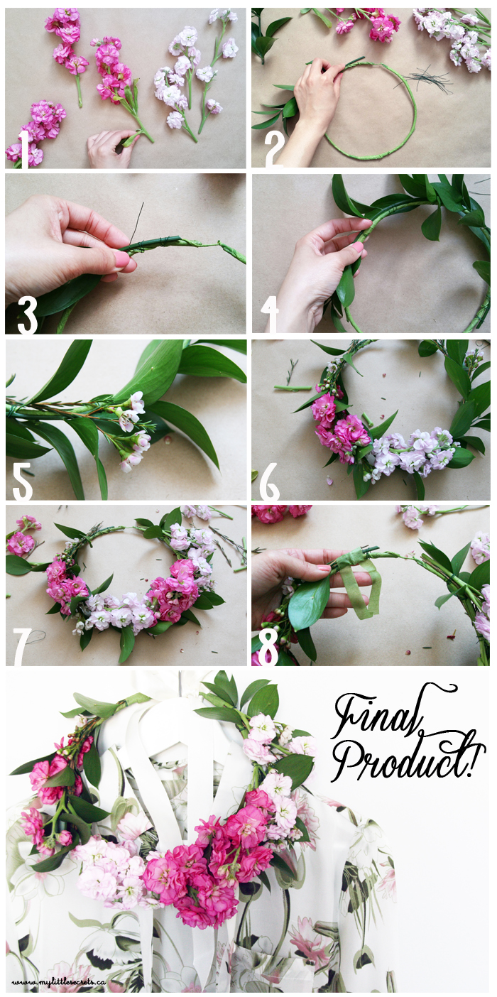 Diy floral tutorial: crown recommend dress in spring in 2019