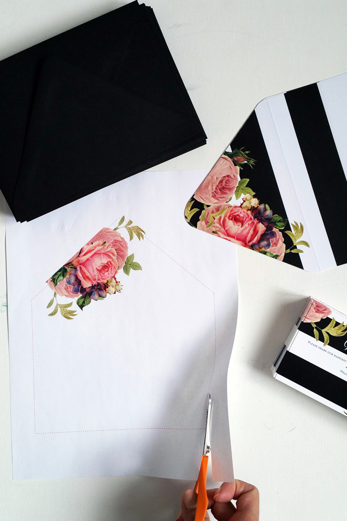 DIY :: Wedding Invitation Envelope Liners – My Little Secrets