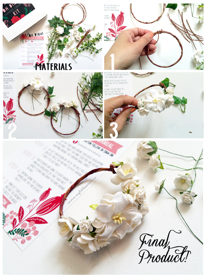 Oh Dina DIY Flower Crown or Corsage Kit