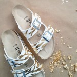 DIY Gold Leaf Sandals Birkenstock SoftMoc
