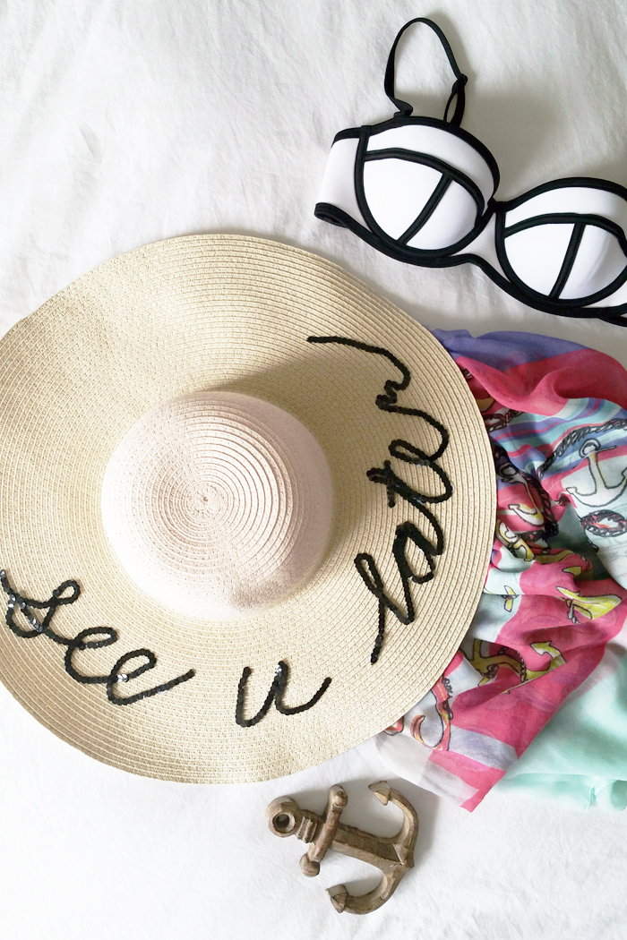 DIY Summer Beach Hat Joe Fresh