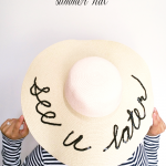 DIY :: Sequins Beach Hat with Joe Fresh