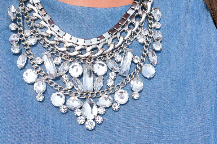 Statement Necklace Dancing Jewels