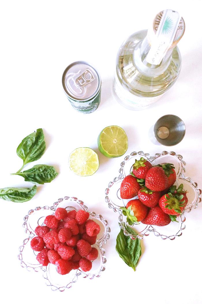 PINK berries basil margaritas
