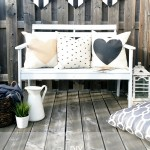 DIY :: Painted Outdoor Patio Bench