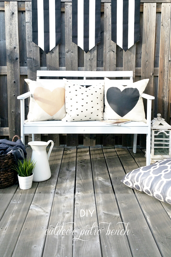 Diy Painted Outdoor Patio Bench My Little Secrets