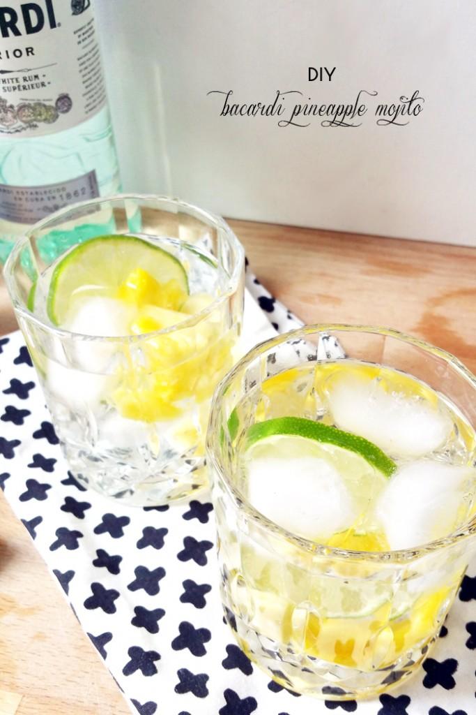 DIY Bacardi Pineapple Mojito