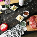 DIY Varathane Challenge :: Marquee Sign Charcuterie Board (on wheels!)
