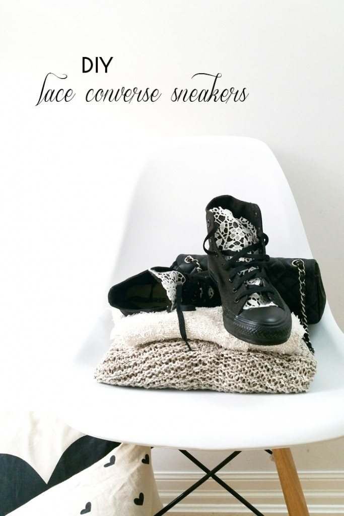 DIY Lace Converse Sneakers