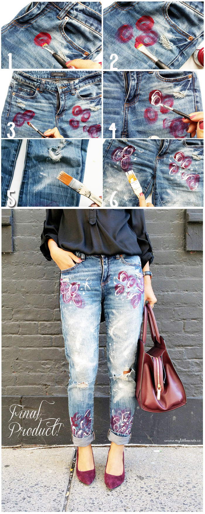 DIY Joe Fresh Painted Denim