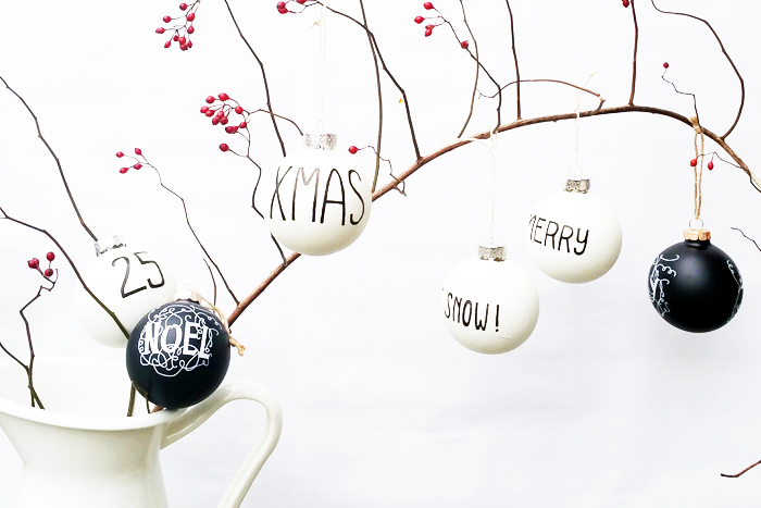 Behr DIY Black and White Ornaments 1