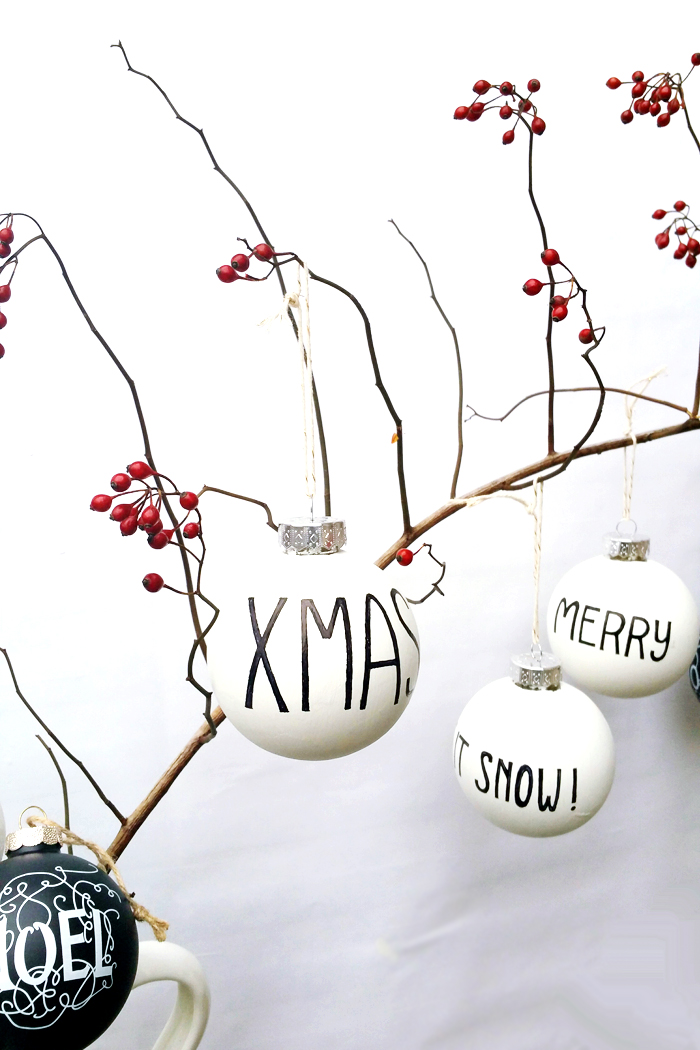 Behr DIY Black and White Ornaments 2