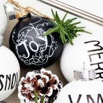 Holiday DIY :: Black & White Ornaments with BEHR Paint {giveaway}