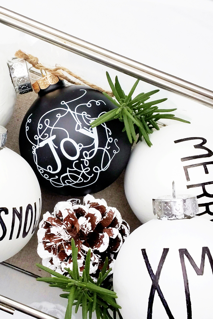 Behr DIY Black and White Ornaments 3