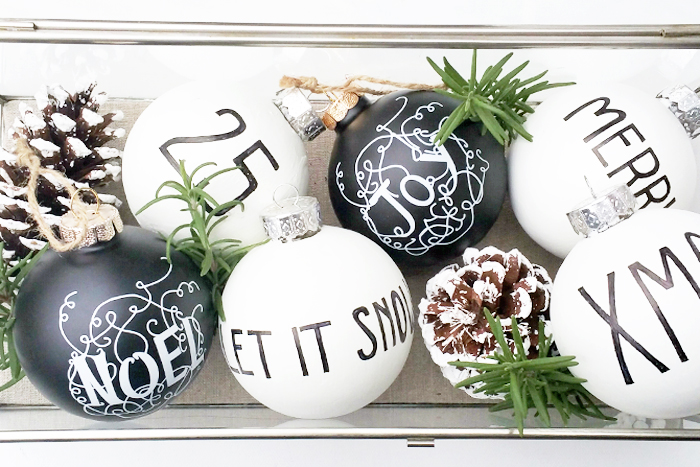Behr DIY Black and White Ornaments