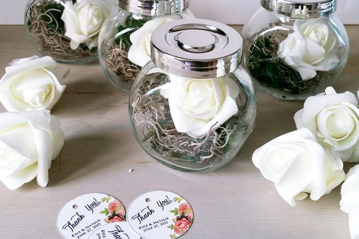 DIY Wedding Terrarium Favors Place Card Holder 1