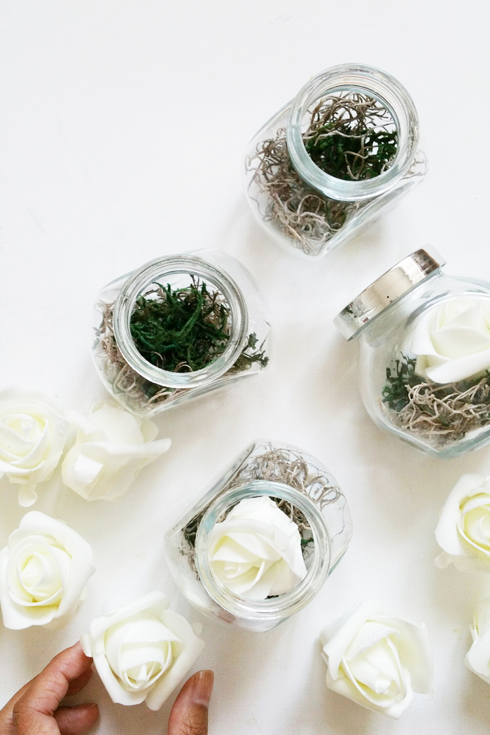 DIY Wedding Terrarium Favors Place Card Holder 2
